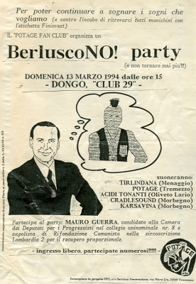 berluscono party locandina