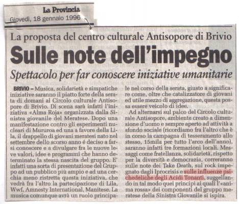 live all'antisopore la provincia 1